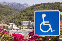 Signe d'handicap Photo stock