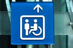 Signe d'handicap Photos stock