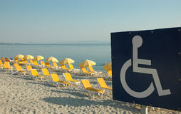 Signe d'handicap de photo Image stock