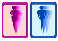 Signe d'homme et de femme Image stock