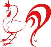 Signe d'icône de coq Image libre de droits
