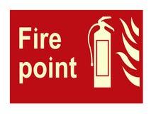 Signe d'incendie Photos stock