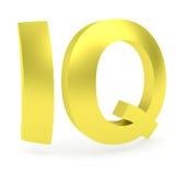Signe d'or incurvé de QI image stock