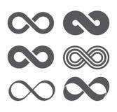Signe d'infini Bande de Mobius Photographie stock