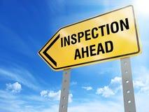 Signe d'inspection illustration libre de droits