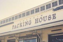 Signe d'installation d'emballage d'Anaheim photographie stock libre de droits