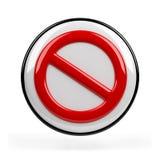 Signe d'interdiction Photographie stock