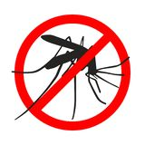 Signe d'interdiction aucun moustiques illustration de vecteur