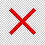 Signe d'interdiction, aucun symbole ; Croix-Rouge Images libres de droits