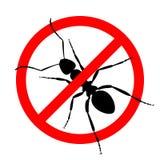 Signe d'interdiction aucune fourmis illustration libre de droits