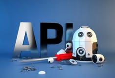 Signe d'interface de programmation API pour commandes Tempus-link illustration libre de droits