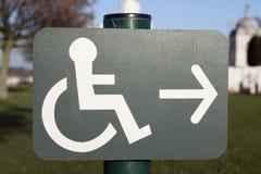 Signe d'invalidité photo stock