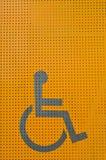 Signe d'invalidité Photographie stock
