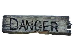 Signe d'isolement de danger Photos libres de droits