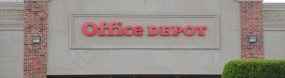 Signe d'Office Depot Images stock