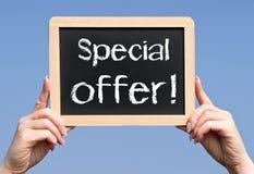 Signe d'offre spéciale Image stock