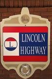 Signe d'omnibus de Lincoln photographie stock