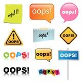 Signe d'Oops Image libre de droits