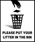 Signe d'ordures Image libre de droits