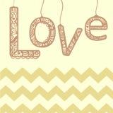 Signe d'ornement d'amour avec le zigzag Style moderne Illustration Stock