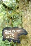 Signe d'ours à l'extérieur image stock