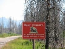 Signe d'ours Images libres de droits