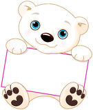 Signe d'ours blanc Photo stock