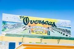 Signe d'outre-mer de route - Key West, la Floride images libres de droits