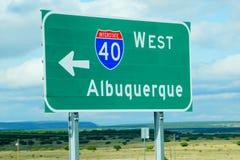Signe d'un état à un autre d'Albuquerque Nouveau Mexique Photos stock