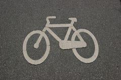 Signe d'un vélo Image libre de droits