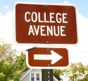 signe d'université d'avenue Images libres de droits