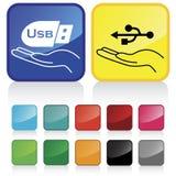 Signe d'USB Photo libre de droits