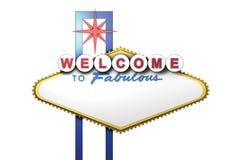 signe de 3d Las Vegas avec la zone blanc pour le texte Photographie stock libre de droits