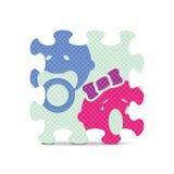 Signe de bébé de vecteur fait avec le puzzle d'alphabet Image libre de droits