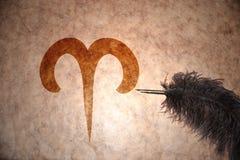 Signe de Bélier de vintage du zodiaque Images stock