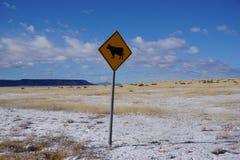 Signe de bétail du Wyoming Photos stock