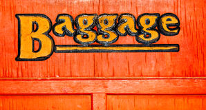 Signe de bagages Photo stock