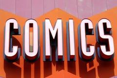 Signe de bandes dessinées Images stock
