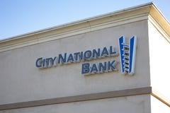 Signe de banque fédérale de ville photographie stock