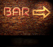 Signe de bar Photo libre de droits