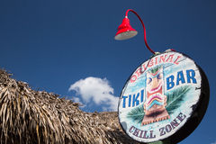 Signe de bar de Tiki Photographie stock libre de droits
