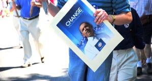 Signe de Barack Obama Photo libre de droits