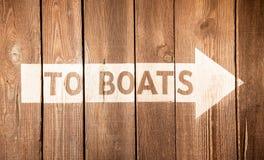 Signe de bateau Images stock