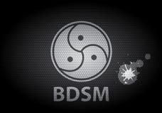 Signe de Bdsm imprimé sur le textile Photographie stock libre de droits