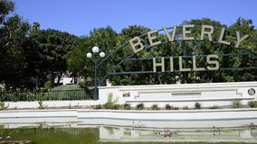 Signe de Beverly Hills Images stock