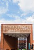 Signe de bibliothèque britannique Photographie stock libre de droits
