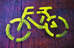 Signe de bicyclette Images libres de droits
