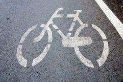 Signe de bicyclette Images libres de droits
