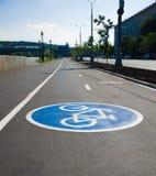 Signe de bicyclette Photographie stock