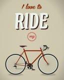 Signe de bicyclette Album de Beatles Chanson célèbre plat Image stock